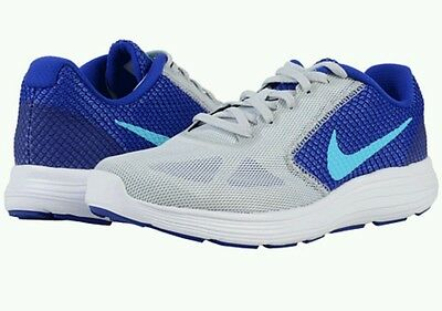 New Nike Revolution 3 Womens 819303-003 Violet purple teal Running Shoes Sz 8.5