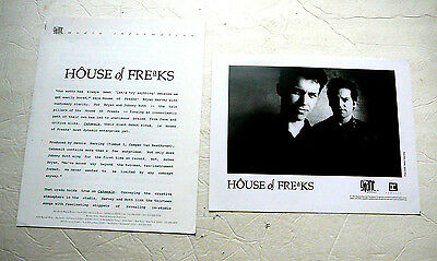 HOUSE OF FREAKS 1991 CD PRESS KIT WITH PHOTO Giant Records