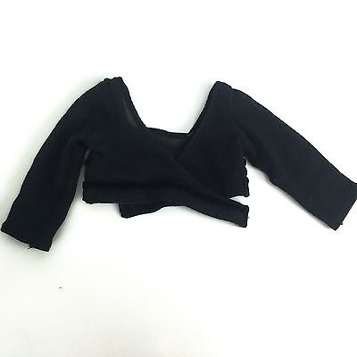 """AMERICAN GIRL Black Cropped Wrap Front Top Sweater Dance Ballet Fits 18"""" Dolls"""