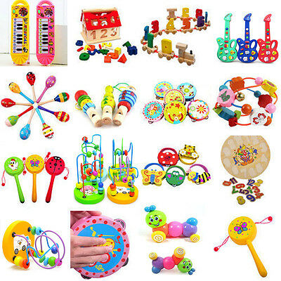 1PCS Toddler Infant Baby Kids Wooden Developmental Toys Early Educational Game