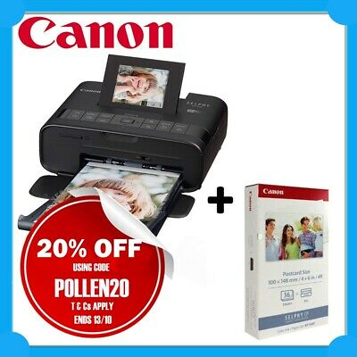 Canon SELPHY CP1200-BK Wireless Compact Photo Printer+KP-36IP Ink/Paper Bundle
