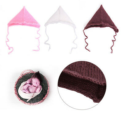 Newborn Baby Boys Girls Crochet Knit Hat Costume Photo Photography Outfits Prop