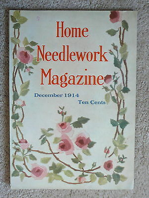 Home Needlework Magazine - December 1914 - Crochet Embroidery - Very Good