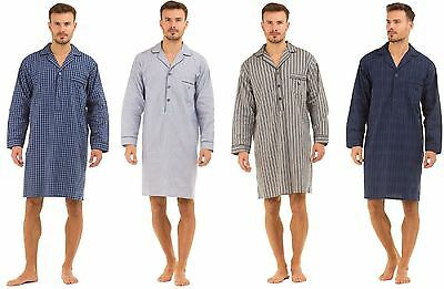 Haigman Mens Lightweight Poplin 100% Cotton 7391 Nightshirt