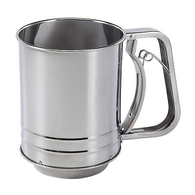 Baker'S Secret 1109846 Stainless Steel 3 Cup Flour Sifter New