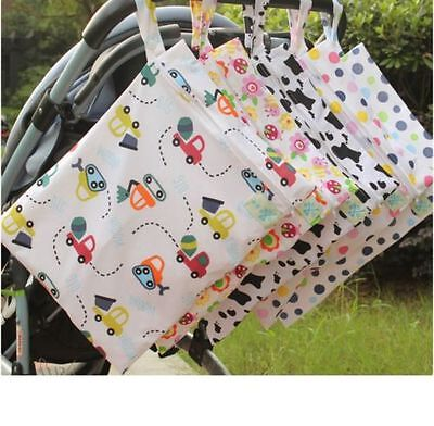 Baby Waterproof Nappy Storage Bag Diaper Bag Washable Nappy Dry Wet Cloth