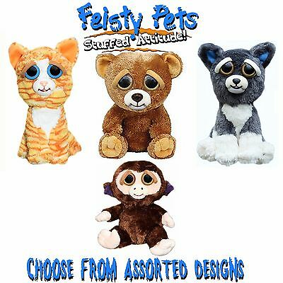 FEISTY PETS - Scary 20cm Soft Toy Stuffed With Attitude! - Assorted Designs