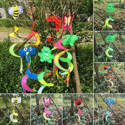Cute Animal Spiral Windmill Colorful Wind Spinner Lawn Garden Yard Outdoor Decor