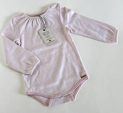 Bellybutton - langarm Body Shirt Babybody Gr. 62 weiß rosa Basic /10#MYB