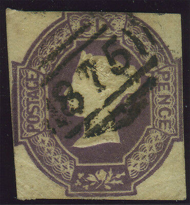 SG 59 6d lilac, fine used example with lightly touched to clear margins, very ne
