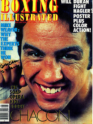 BOBBY CHACON - Boxing Illustrated (1983) Cover Photo - SIGNED In Person