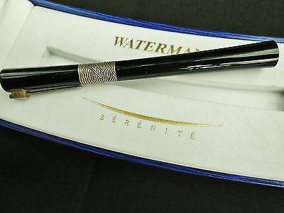Waterman Serenite Black  Rollerball Pen New In Box
