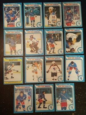 1979-80 OPC NEW YORK RANGERS Select from LIST NHL HOCKEY CARDS O-PEE-CHEE