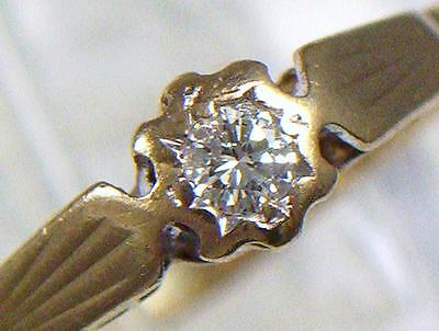 Vintage 9ct Gold Diamond Engagement Ring from London dated 1987 . U.K size M