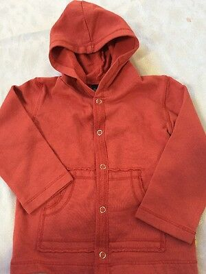 Boys Boutique 9-12 months Charlie Rocket Orange NEW NWT Snap Hoodie Jacket Fall