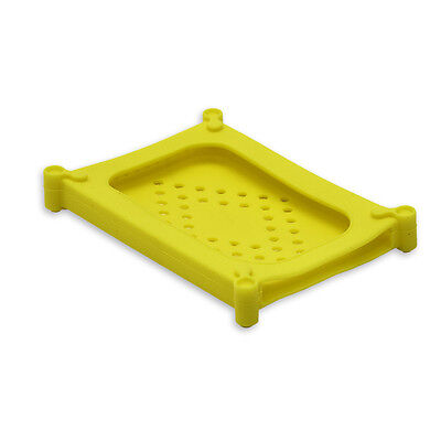 """2.5"""" SATA/IDE HD Soft Gel Protector Cover, Protective Soft Silicone Skin, Yellow"""