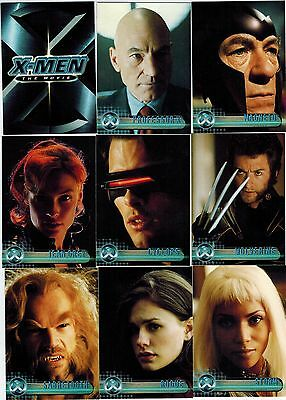 (2) 2000 Topps X-Men The Movie 72-Card Trading Complete Set Lot