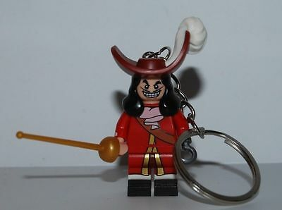 Lego Captain Hook Keychain Disney Minifigura - Peter Pan Movie - Serie Disney