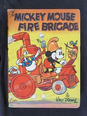 Mickey Mouse Fire Brigade #2029 WHITMAN 1936 - Hardcover Book with Dust Jacket!