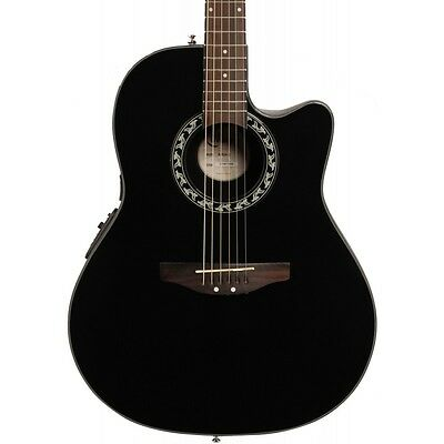 Applause by Ovation AB24-5 Balladeer Mid Depth Bowl Acoustic-Electric Guitar Blk