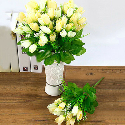 1 Bouquet 15 Heads Fake Tulip Artificial Flower Wedding Party Home Decor Modish