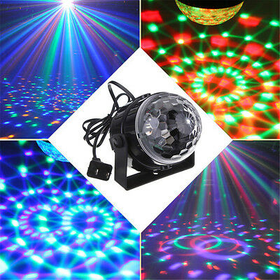 KINGSO 5W RGB LED Voice Control Party DJ Crystal Magic Ball Effect Stage Light