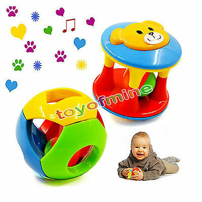 2Pcs Baby Toy Little Loud Jingle Ball Training Grasping Ability Toy New