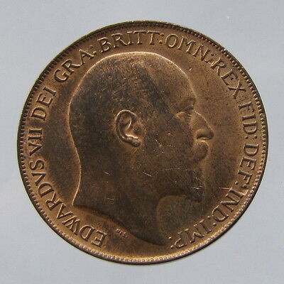 Edward VII, bronze penny, 1910, nEF with lustre