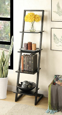 Convenience Concepts 131499BL 4 Tier Ladder Bookshelf - Black NEW