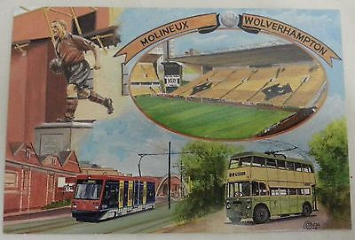 Molineaux Wolverhampton Wanderers Football Club Ground Postcard Series 1990's