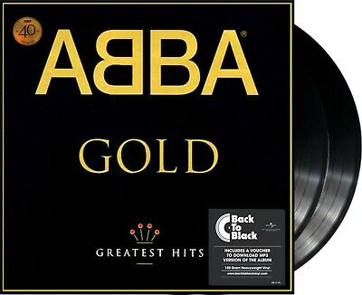 "Abba ""gold"" Vinyl 2LP + MP3 40th Anniversary ""Back To Black"" NEU greatest Hits"