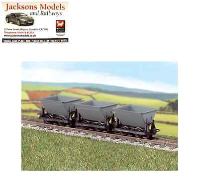 "Peco GR-331 Hudson ""Rugga"" V-Skips (Pack of 3) Grey OO-9 Gauge"