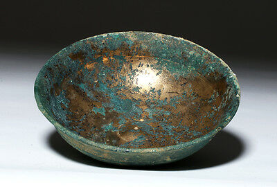 ARTEMIS GALLERY Ancient Achaemenid Gilded Bronze Wine Bowl
