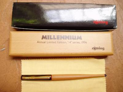 Rotring Millennium Limited Edition Foutain Pen Medium Pt  New In Box 1996