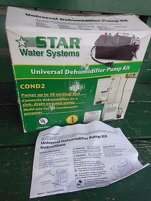 Star Water Systems Universal Dehumidifier Pump Kit Cond2 25Ft Tubing New