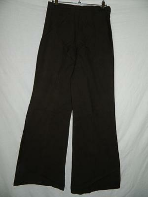Vintage 1970s ladies trousers high waisted wide leg flares W28xL32xhem24 LVT008