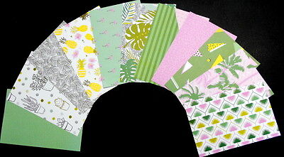 "*SUMMERTIME*  Colourful Scrapbooking/Cardmaking Papers - 15cm x10cm (6"" x 4"")"