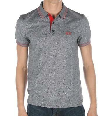 259907ed Hugo Boss Men's Slim Fit Premium Cotton Polo Shirt T-Shirt Gray/Pink  50315606