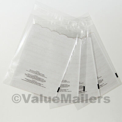 100 12x17 1.5 Mil Bags Resealable Clear Suffocation Warning Poly Bags Self Seal