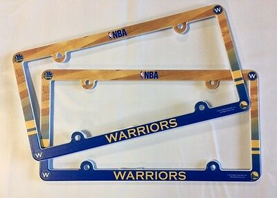 Lot of 2 Golden State Warriors Car Truck License Plate Frames NEW - THIN PROFILE