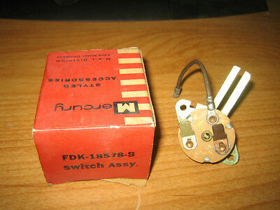 NOS 1955 Mercury Heater Switch FDK-18578-B