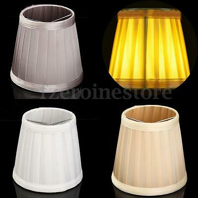 Modern Table Lamp Ceilling Light Shade Pleat Fabric Lampshade European Style