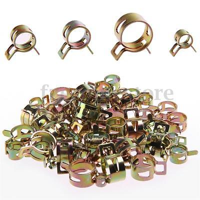 60PCS Hose Spring Clip Air Tube Fuel Line Water Pipe Clamps Dia6,9,10,12,14,15mm