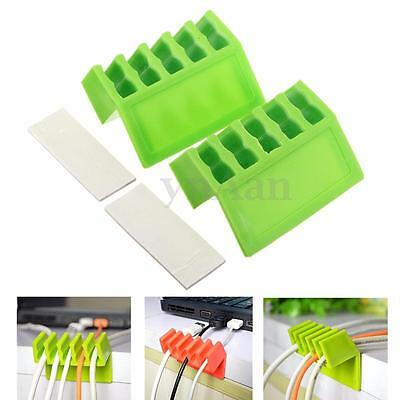 2PCS Alambre Cable Drop Clips Holder Sticky Organizador Plug Fijador Titular Car