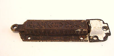 Eastlake Spring Latch with Receiver Bottom Bolt Cast Iron 1880s Antique Hardware