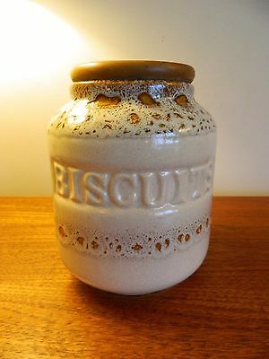 Fosters Pottery Honeycomb Biscuit Jar Sold Seperately