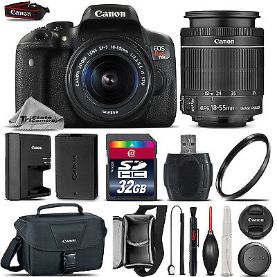 Canon EOS Rebel T6i DSLR Camera + 18-55mm STM + Canon Case 100ES + UV - 32GB Kit