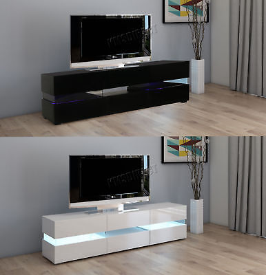 Westwood Modern LED TV Unit Stand Cabinet – High Gloss Doors Matte Cabinet TVC07