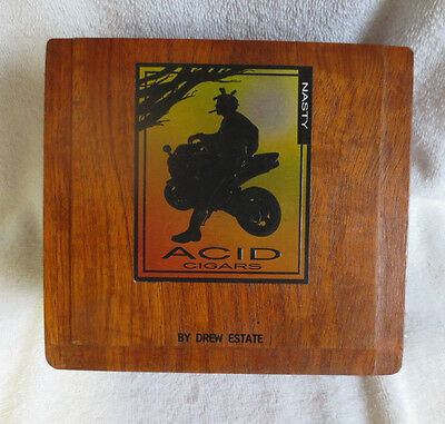 Drew Estate Acid Nasty Wood Cigar Box  - Beautiful!