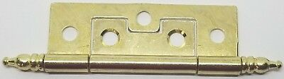 "Brass Plated Steel Cabinet Hinge 1"" x 3.5"" door cabinet cupboard drawer vintage"